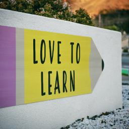 Pencil saying love to learn